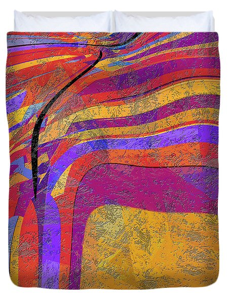 0871 Abstract Thought Duvet Cover by Chowdary V Arikatla