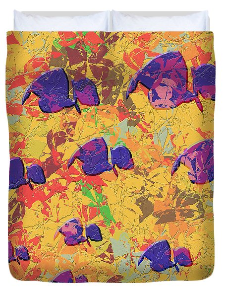0886 Abstract Thought Duvet Cover by Chowdary V Arikatla