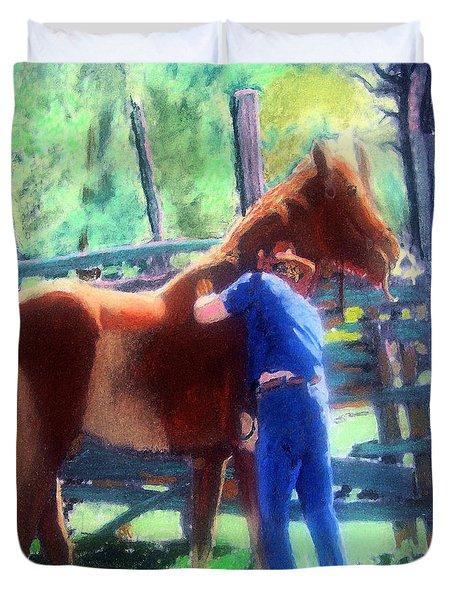 092814 Louisiana Cow Boy Duvet Cover
