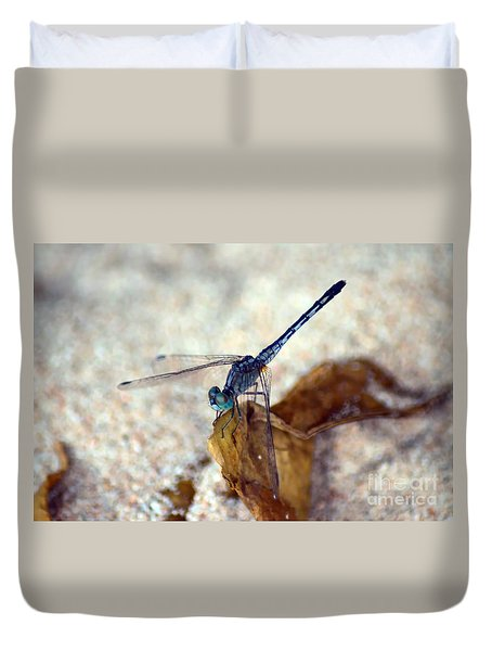 Blue Dragonfly Duvet Cover by Michelle Meenawong