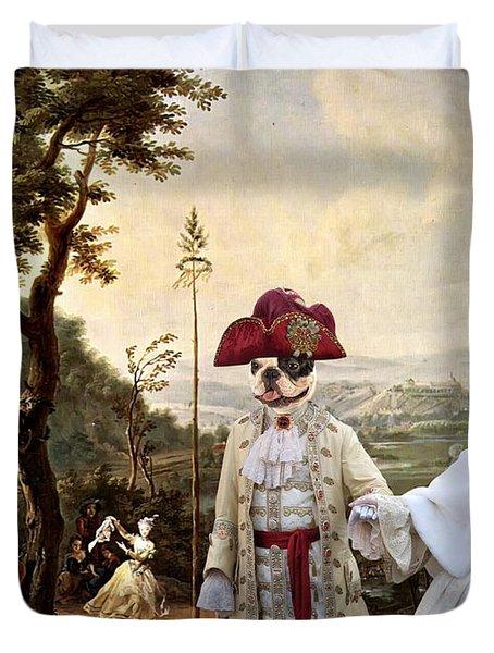 French Bulldog Art Canvas Print Duvet Cover