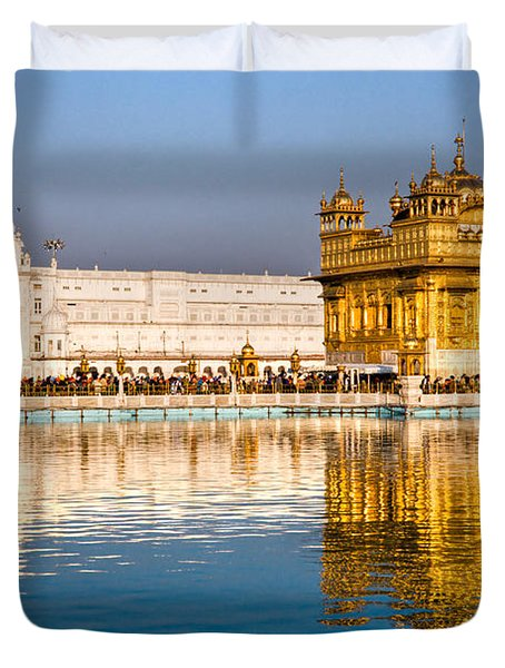 Golden Temple In Amritsar - Punjab - India Duvet Cover by Luciano Mortula