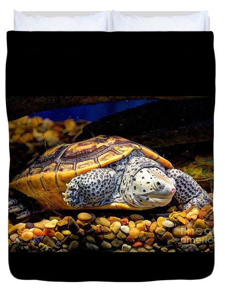 Sea Turtle Duvet Cover by Savannah Gibbs