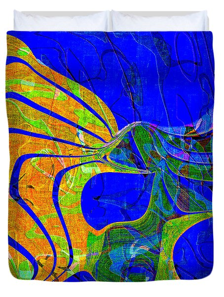 0565 Abstract Thought Duvet Cover by Chowdary V Arikatla