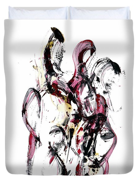 Duvet Cover featuring the painting 10118.110409 - Dance Of The Universe 1 by Kris Haas