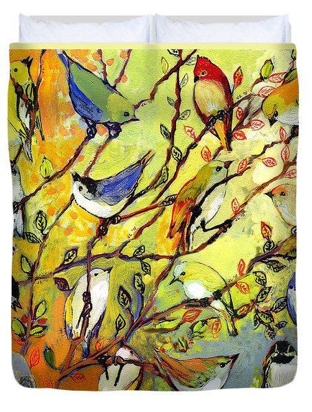 16 Birds Duvet Cover