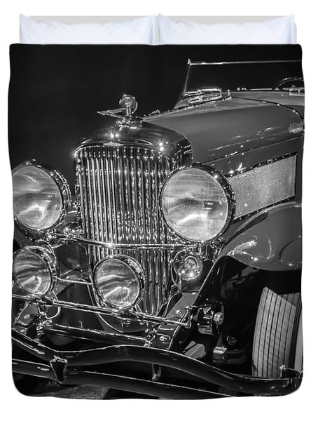 1929 Duesenberg Model J Duvet Cover by Roger Mullenhour