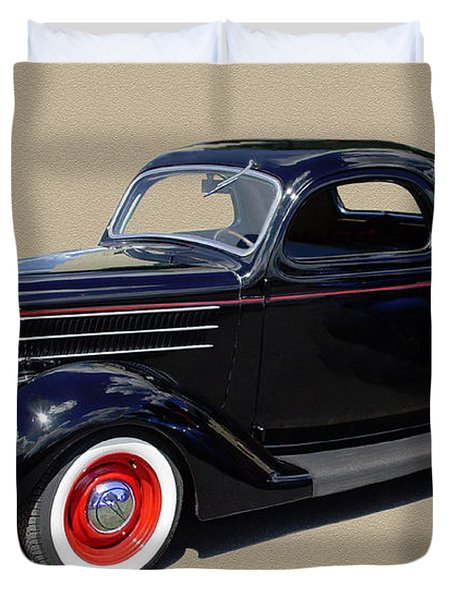 1936 Ford 3 Window Coupe Duvet Cover by Jack Pumphrey