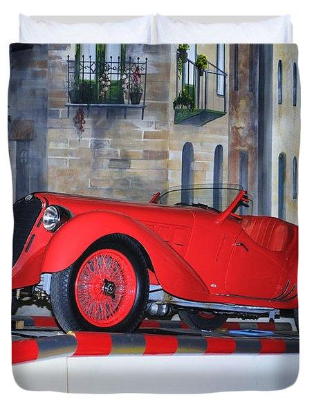 Duvet Cover featuring the photograph 1937 Alfa Romeo 8c 2900a by Boris Mordukhayev