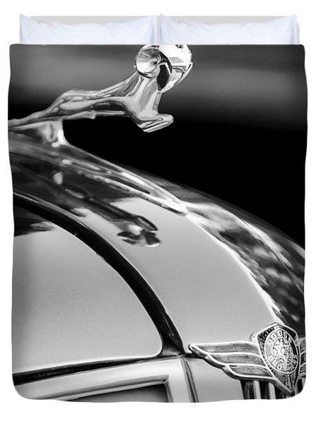 1937 Dodge Hood Ornament - Emblem Duvet Cover by Jill Reger