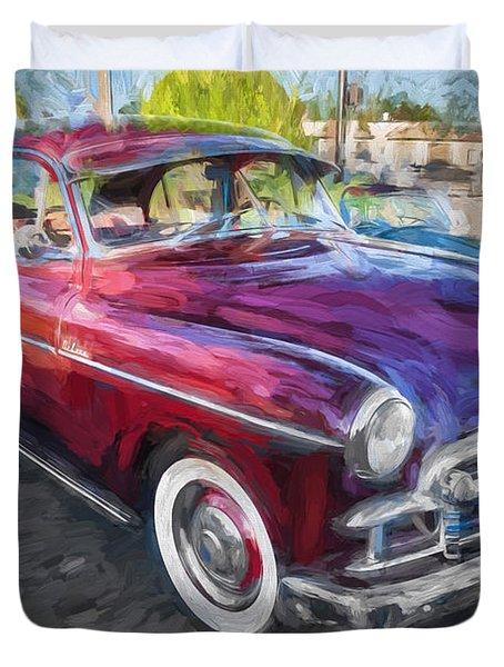 1950 Chevrolet Sedan Deluxe Painted  Duvet Cover