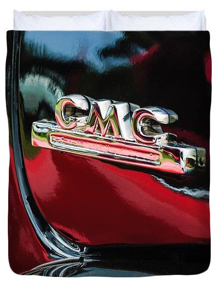 1952 Gmc Suburban Emblem Duvet Cover