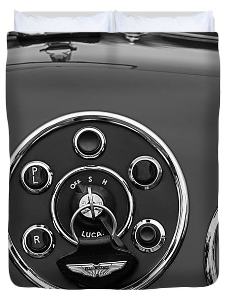 1953 Aston Martin Db2-4 Bertone Roadster Instrument Panel Duvet Cover