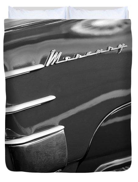 1953 Mercury Monterey Wheel Emblem Duvet Cover