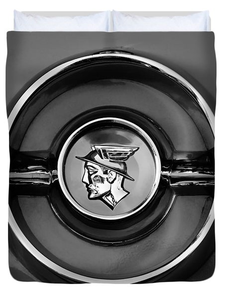 1955 Mercury Monterey  Emblem Duvet Cover