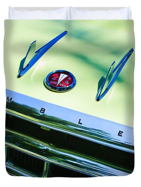 1956 Hudson Rambler Station Wagon Grille Emblem - Hood Ornament Duvet Cover by Jill Reger