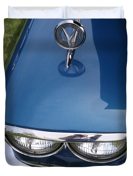 1958 Buick Super 56r Duvet Cover by Sara  Raber