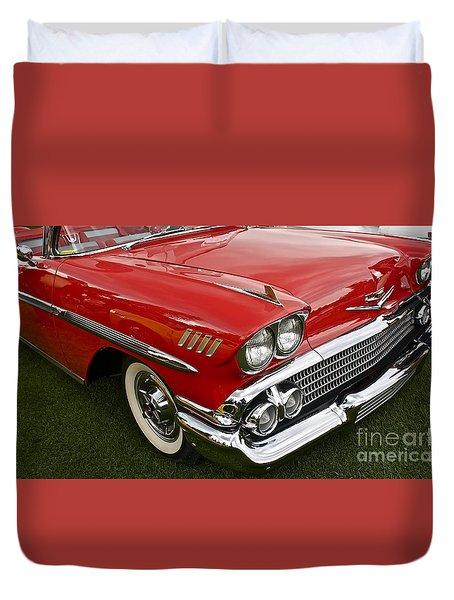 1958 Chevy Impala Duvet Cover