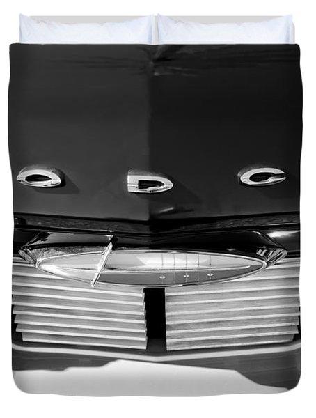 1960 Dodge Grille Emblem Duvet Cover by Jill Reger