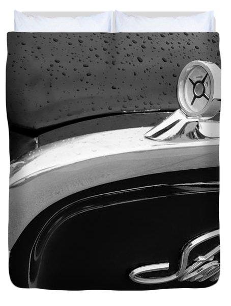 1960 Ford Galaxie Starliner Hood Ornament - Emblem Duvet Cover by Jill Reger