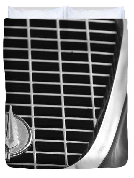 1960 Studebaker Hawk Grille Emblem Duvet Cover by Jill Reger