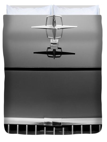 1961 Lincoln Continental Hood Ornament Duvet Cover