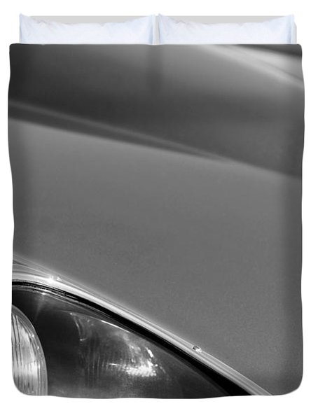1963 Jaguar Xke Roadster Headlight Duvet Cover by Jill Reger