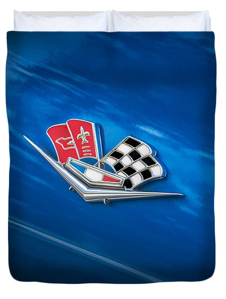 1966 Chevrolet Corvette Coupe Emblem   Duvet Cover by Rich Franco