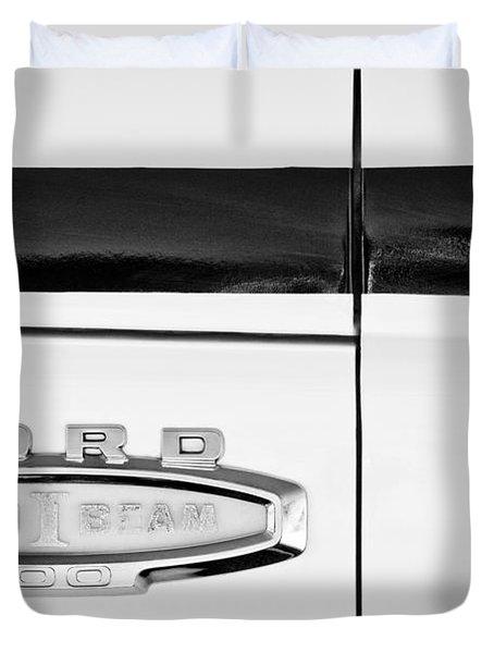 1966 Ford Pickup Truck Emblem Duvet Cover by Jill Reger