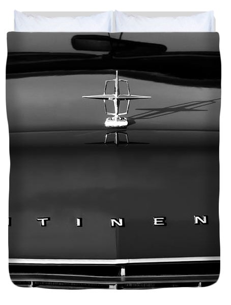 1967 Lincoln Continental Hood Ornament Grille Emblem Duvet Cover