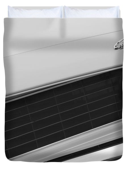 1969 Chevrolet Camaro Copo Replica Grille Emblems Duvet Cover by Jill Reger