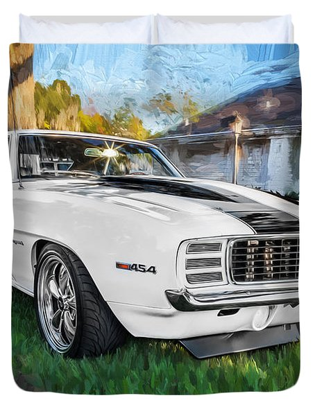 1969 Chevy Camaro Rs Painted  Duvet Cover