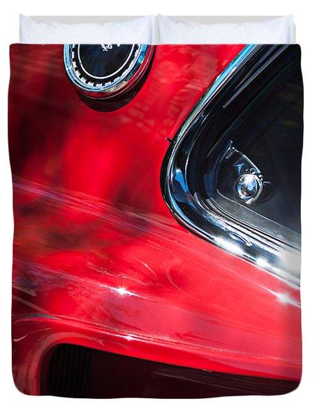 1969 Ford Mustang Boss 429 Sportsroof Side Emblem Duvet Cover by Jill Reger