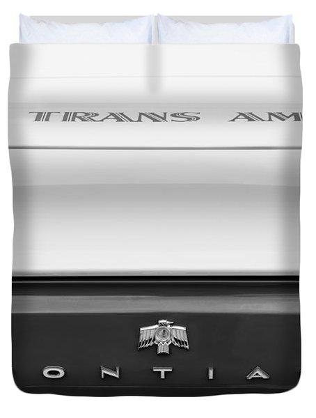 1969 Pontiac Trans Am Tail Fin Emblem Duvet Cover by Jill Reger