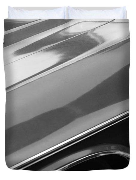1970 Dodge Challenger Rt Convertible Emblems Duvet Cover by Jill Reger