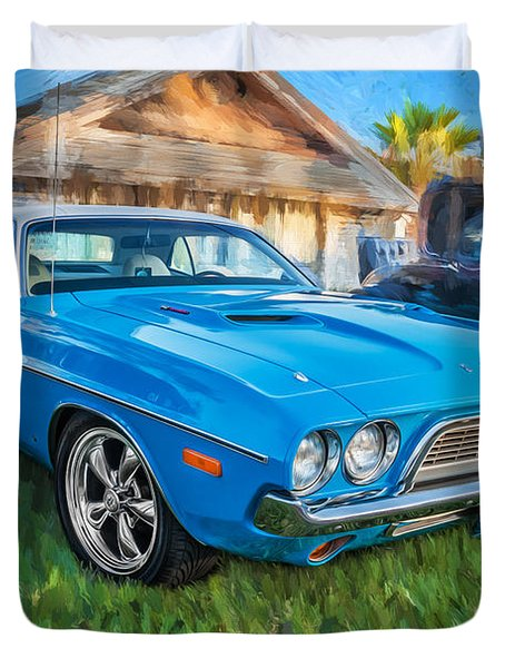 1972 Dodge 340 Challenger Painted  Duvet Cover