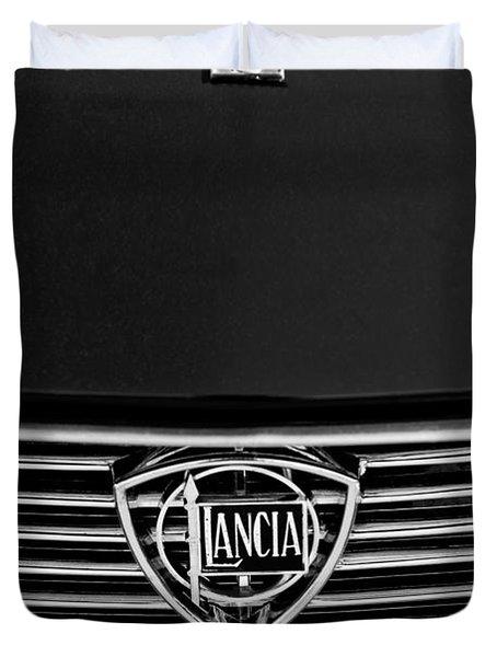 1972 Lancia Fulvia 1.3s S2 Grille Emblem Duvet Cover