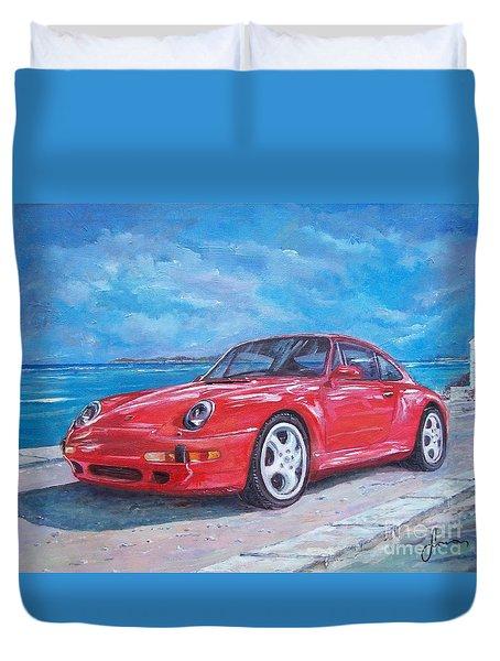 1997 Porsche Carrera S Duvet Cover