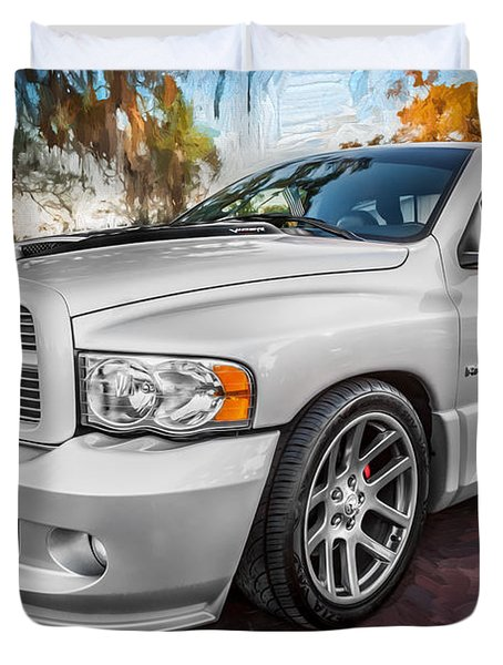 2004 Dodge Ram Srt 10 Viper Truck Painted Duvet Cover by Rich Franco
