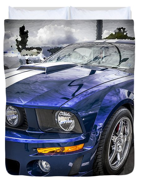 2008 Ford Shelby Mustang With The Roush Stage 2 Package Duvet Cover