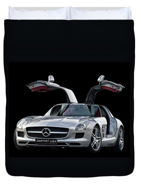 2010 Mercedes Benz Sls Gull-wing Duvet Cover