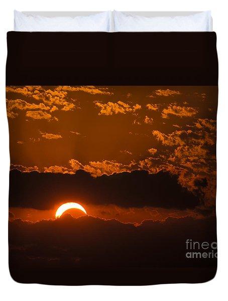 2012 Solar Eclipse Duvet Cover