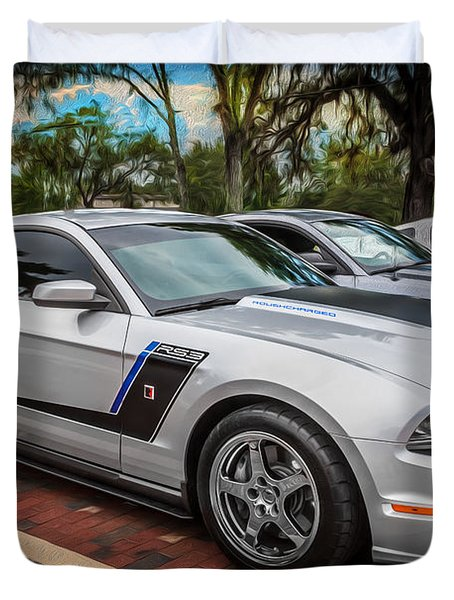 2012 Ford Roush Stage 3 Mustang Rs3 Painted  Duvet Cover