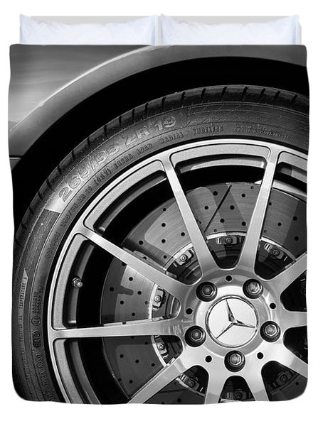 2012 Mercedes-benz Sls Amg Gullwing Wheel Duvet Cover