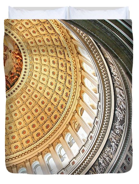 Duvet Cover featuring the photograph A Capitol Rotunda by Cora Wandel