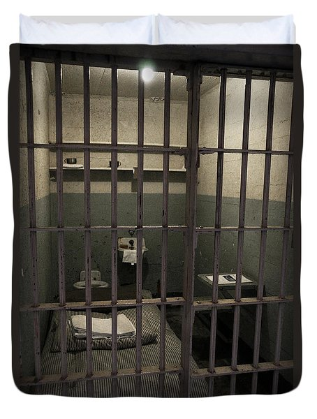 A Cell In Alcatraz Prison Duvet Cover