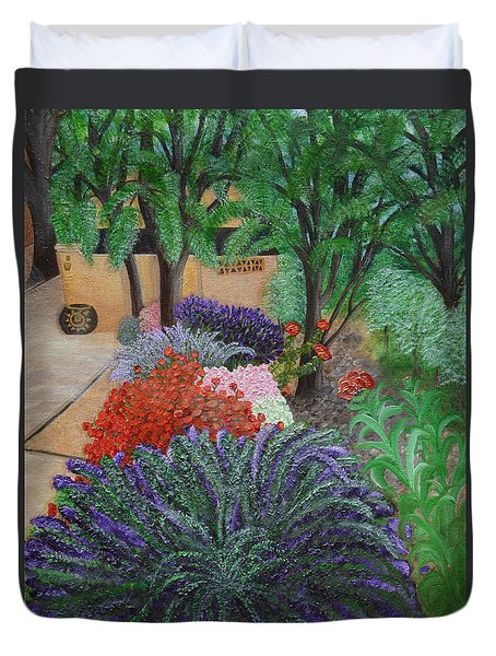 A Garden To Remember Duvet Cover