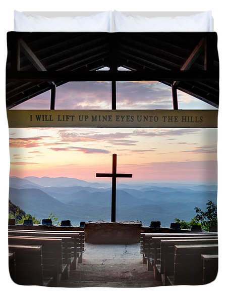 A Good Morning At Pretty Place Duvet Cover by Rob Travis