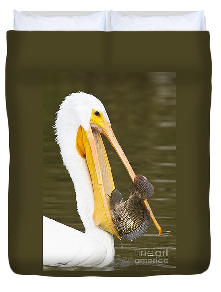 A Mouthful Duvet Cover by Bryan Keil