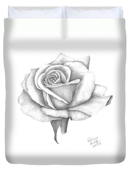 A Roses Beauty Duvet Cover by Patricia Hiltz